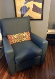 Blue Vinyl *Like Brand New* Recliner