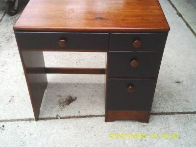 DESK LOW PROFILE ALL PINE WOOD MINT