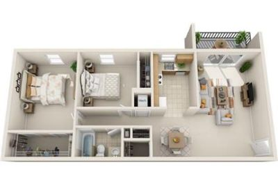 2 bedrooms - Find spacious apartment layouts.