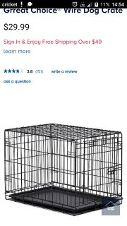 Dog cage, blue in color