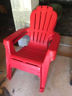 Pair of Red Patio Chairs!