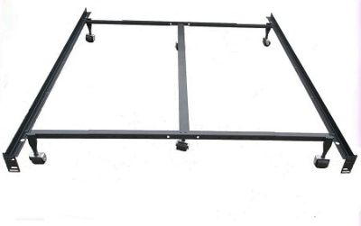 HEAVY DUTY STEEL METAL BED FRAME WITH CASTERS