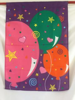 """Festive Decorative Indoor or Outdoor Pole Flag. Size 29-1/4"""" x 42 Balloons"""