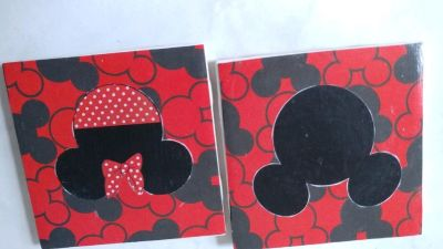 Mickey mouse and minne coaster