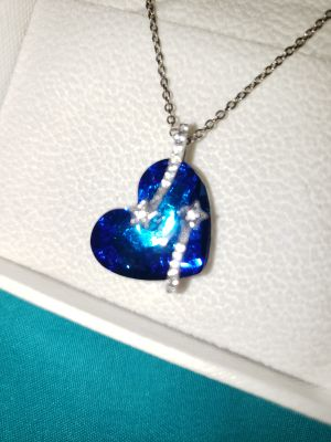 Lady Colour Blue Heart Star Swarovski crystal