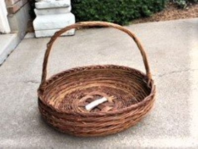 LARGE ROUND WICKER BASKET PLANT/PATIO/CONTAINER BASKET