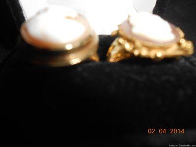 2ea. 14k Cameo rings