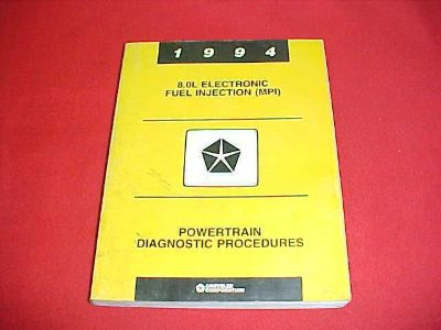 Purchase 1994 DODGE 2500 3500 TRUCK 8.0L ENGINE DIAGNOSTIC SHOP SERVICE MANUAL 94 OEM motorcycle in Leo, Indiana, US, for US $9.99