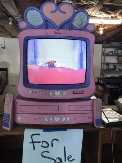 Disney tv with dvd & vhs player