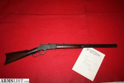 For Sale: Antique Winchester 1873 22 Short Rifle W Letter