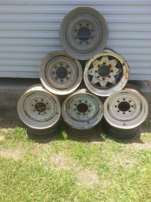 Trailer Rims 16,5 15.00 Each have 9