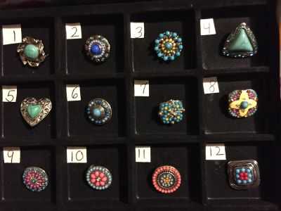 NEW, SNAPS FOR INTERCHANGEABLE JEWELRY, FITS GINGERSNAPS BRAND, Stones, Turquoise/ / MULTI