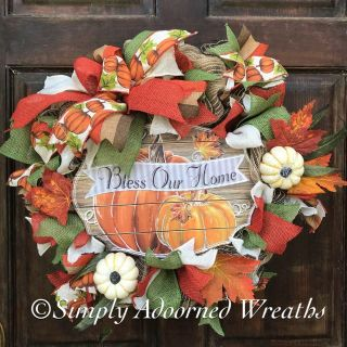 Bless Our Home Fall Wreath