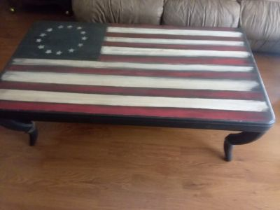 Betsy Ross flag coffee table