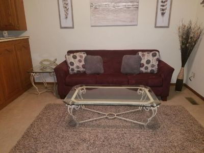 Couch,coffee table, and end table