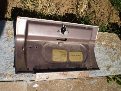 RARE Ford Car Glovebox Door 1957 1958 Fairlane Ranchero Custom  with Hinge