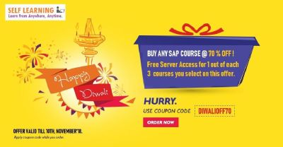 DIWALI OFFER ONLY  2 DAYS    : LEARN ANY  SAP COURSE @ 70 % OFF