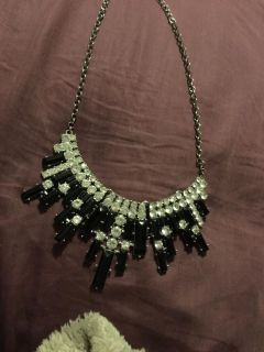 Black and silver chunky necklace