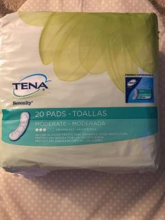New moderate absorbency pads. 20 count