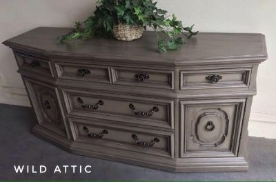 High End Credenza / Buffet Hand Painted
