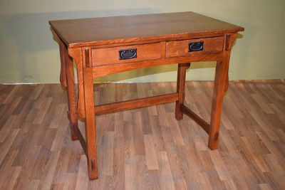 Mission Style Solid Quarter Sawn White Oak Desk...