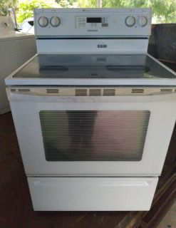 Electric Stove and over the range microwave
