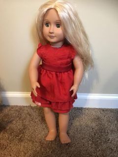 My Life doll with red dress
