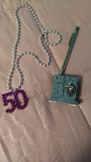 50 necklace and pencil holder