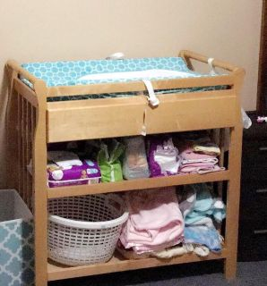 Lightly used changing table