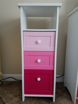 Storage drawers with a cubby hole