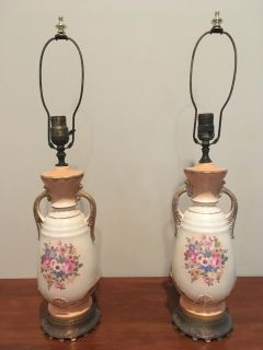 Two Beautiful Matching Antique Lamps