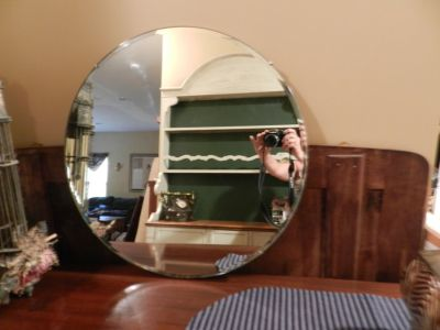 Vintage round wall hanging mirror