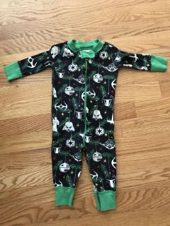 Hanna Andersson Star Wars Christmas Jammies- size 6-9 months