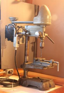 Drill press with vice