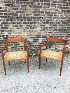 Pair of Danish Chairs by Arne Hovmand Olsen