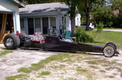 Race Car Dragster Rolling Chassis - Turkey Rod Run Special