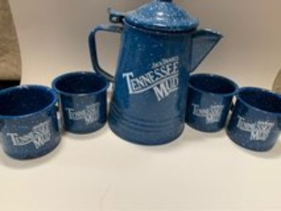 Jack Daniels Coffee Pot w/Mugs