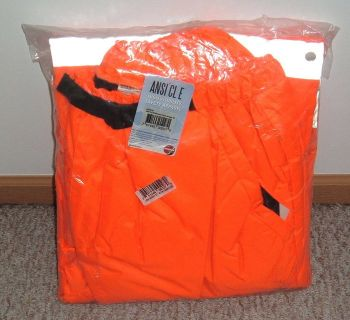 NEW w Tags Jackson Safety ANSI CL E 3M Scotchlite Reflective Hi Viz Orange Pants 2X