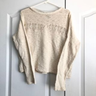 Zara Cream Coloured Lace Sweater
