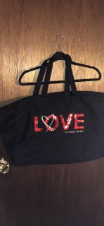 VS black tote bag with red Sequin bling ! Like new!
