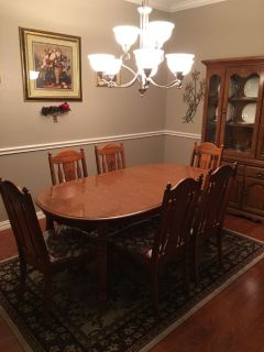 Walnut dining room w/China cabinet