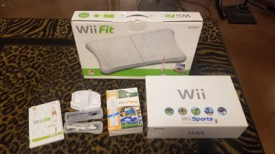 Nintendo Wii Sports Game Console and Wii Fit Board New in Box