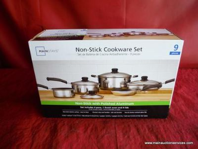$14, New mainstrays non stick polished aluminum cookware ser