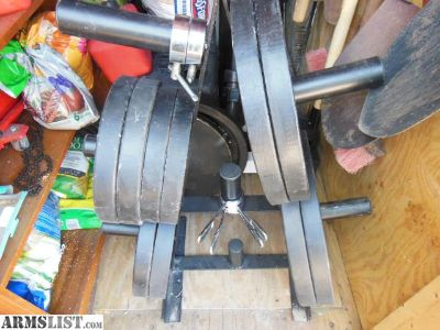 For Trade: 330lbs Olympic Weights & Rack
