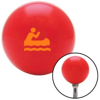 Buy Orange Guy Paddling Canoe Red Shift Knob with M16 x 1.5 Insertshift boot motorcycle in Portland, Oregon, United States, for US $29.97