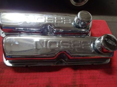 Sell FORD SMALL BLK. CHROMED ( ERSON ) VALVE COVERS WITH BREATHERS motorcycle in Glendale, Arizona, United States