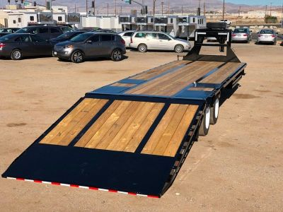 30ft Low Pro Flatbed Trailer with Air Ride Suspension, Gooseneck PJ Trailer LY302-AR