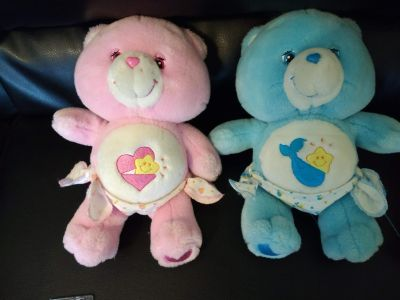 """Care Bears """"Baby Hugs and Baby Tugs"""" plush toys 10 inches"""