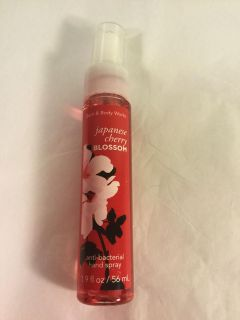 Bath and Bodyworks Japanese Cherry Blossom antibacterial spray for hands