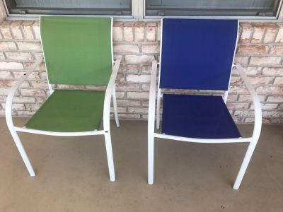 Patio Chairs with Reversible Cushions